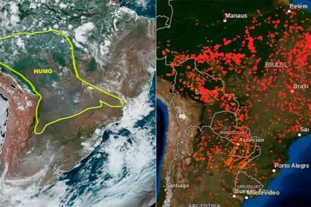 humo incendio Amazonas