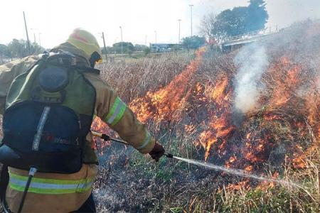 incendio pastizales Túnel Paraná