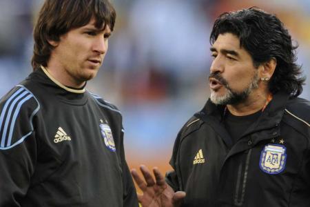 """""""Nos deja pero no se va, porque el Diego es eterno"""", expresó Messi"""