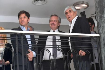 Kicillof, Fernández y Moyano