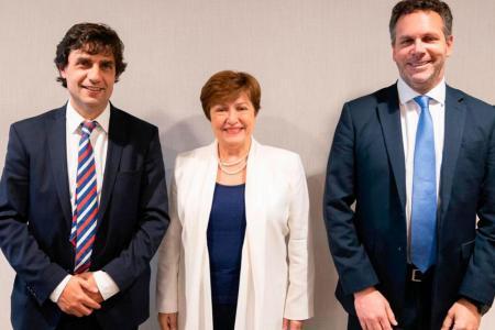 La nueva directora del FMI se reunió con Lacunza y Sandleris