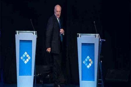 Roberto Lavagna en el debate presidencial en Santa Fe