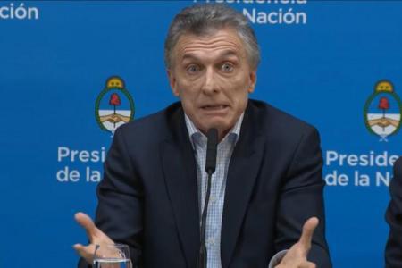 Mauricio Macri en la conferencia del lunes 12 de agosto, cuando culpó a los votantes por la reacción del mercado.