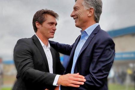Mauricio Macri con Guillermo Barros Schelotto