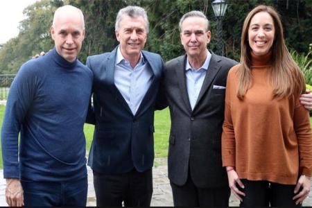 Horacio Rodríguez Larreta, María Eugenia Vidal y Miguel Pichetto trabajan en la apertura de Juntos por el Cambio