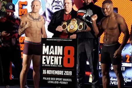 """""""Peligro"""" Mansilla superó el pesaje y está listo para su pelea en Francia"""