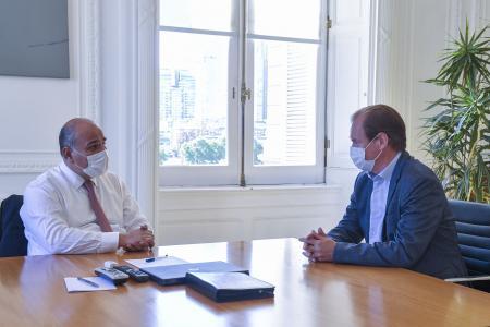 Bordet y Manzur dialogaron sobre obras y apertura de pasos fronterizos