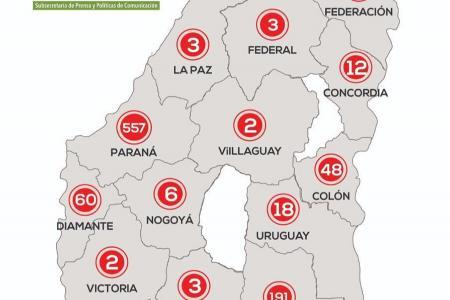 En total en la provincia existen registrados 1.068 casos de coronavirus.