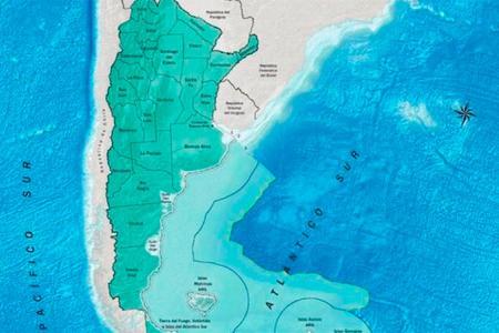 mapa Argentina límites marítimos