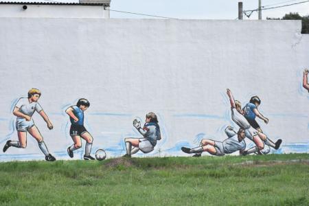 Mural pintado en la ciudad de Firmat