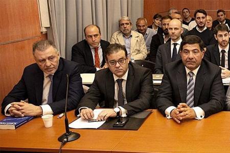 Cristóbal López y Echegaray el día en el que se inició el juicio de Oil.
