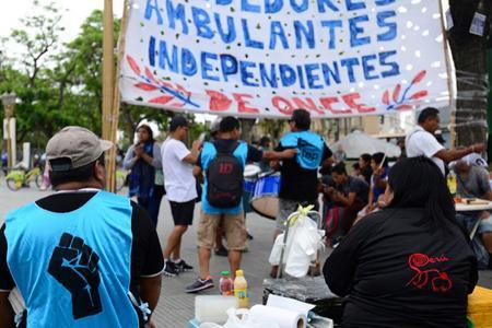 Protesta callejera de la CTEP de Juan Grabois, la agrupación que más planes sociales recibe del Gobierno.