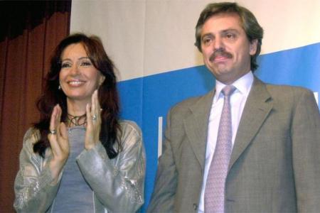 Cristina Kirchner y Alberto Fernández, durante la presidencia de Néstor Kirchner.