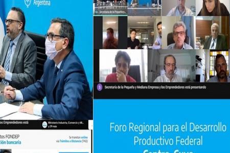 reunión virtual Foro Desarrollo Productivo