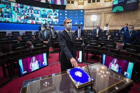 El Senado ratificó sus autoridades y juró el reemplazante de Menem