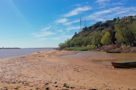 Río Paraná bajante