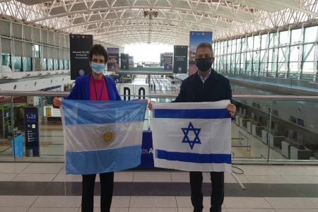 Sergio Urribarri embajador viajando a Israel