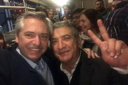 Alberto Fernández con Sergio Urribarri