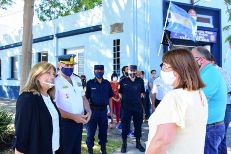 Destacaron el trabajo conjunto en la reconstrucción de la comisaría de Villa Elisa