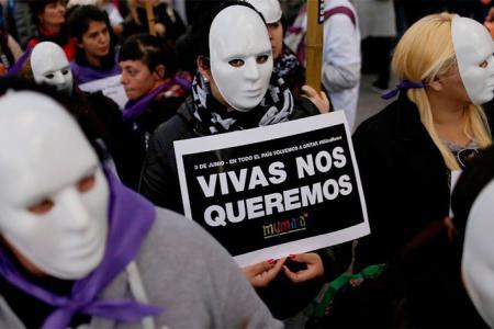 violencia de género protesta