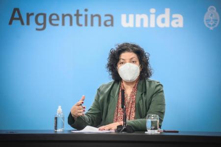 Carla Vizzotti conferencia de prensa