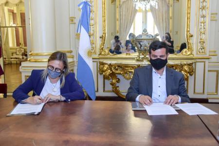 La Agencia Nacional de Discapacidad y la provincia firmaron un convenio para equipamiento