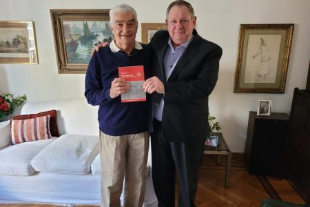 Rogel recibió en Paraná a Hipólito Solari Yrigoyen