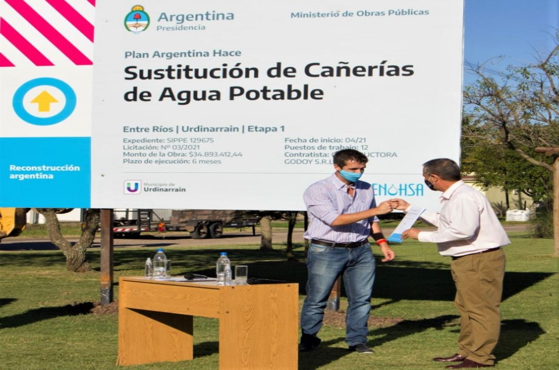 Cresto con Martínez en Urdinarrain
