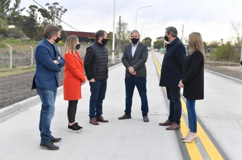 Bordet y Bahl recorrieron el nuevo acceso al Parque Industrial de Paraná
