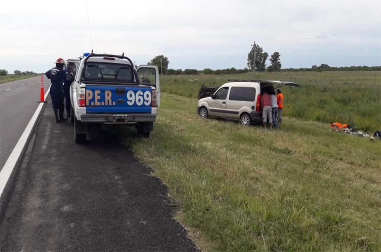 El despiste y vuelco se produjo en el kilómetro 179 de la RN 12.