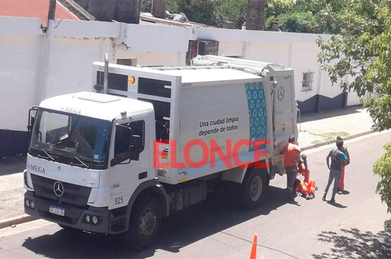 accidente camión recolector