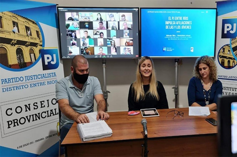 El Partido Justicialista Distrito Entre Ríos, realizó este sábado, una capacitación que apunta a fortalecer las afiliaciones partidarias de jóvenes en el territorio provincial.