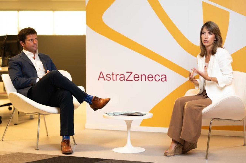 Agustín Lamas, presidente de AstraZeneca Cono Sur y Agustina Elizalde, directora médica de AstraZeneca Cono Sur