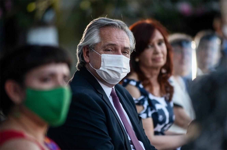 Alberto Fernández junto a Cristina Fernández de Kirchner en la ex Esma, el pasado 10 de diciembre.