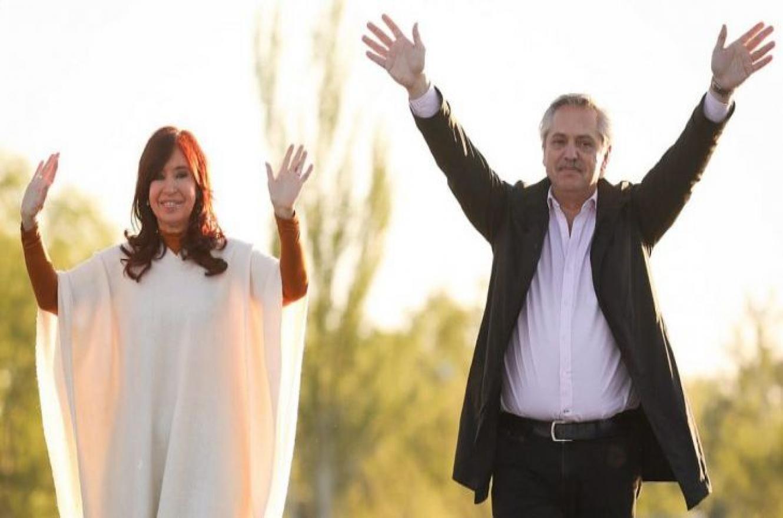 Alberto Fernández y Cristina Kirchner se mostraron juntos en el Día de la Lealtad