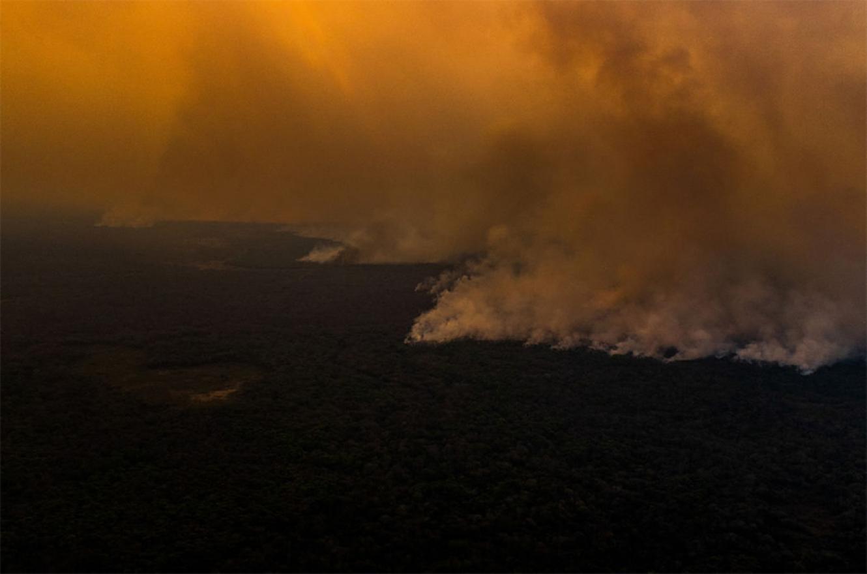 Los incendios arrasaron el Norte del Pantanal, en el Estado de Mato Grosso.