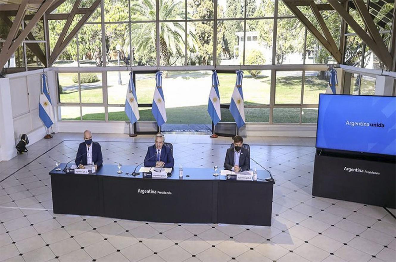Casi todos los anuncios de las extensiones del ASPO fueron encabezados por el presidente Alberto Fernández y, en la mayoría de ellos, estuvo acompañado por las autoridades del AMBA.