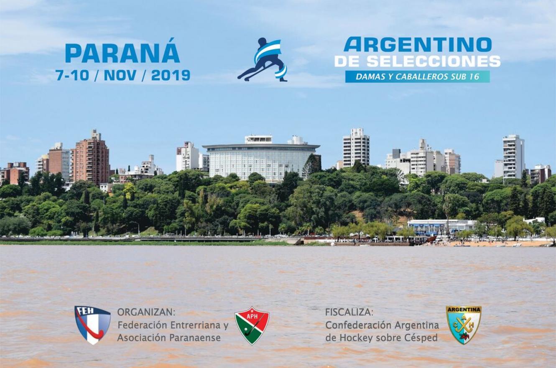 Paraná recibirá desde el próximo jueves al Campeonato Argentino de Selecciones Sub 16