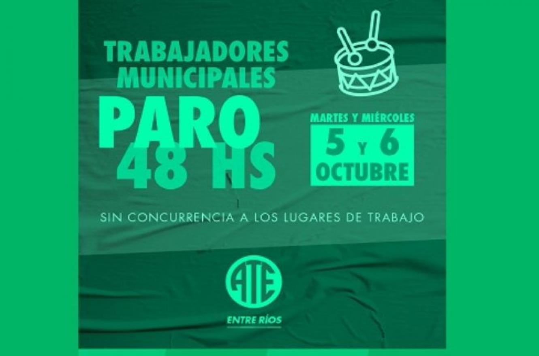 ATE ratificó el paro de 48 horas en la Municipalidad de Paraná