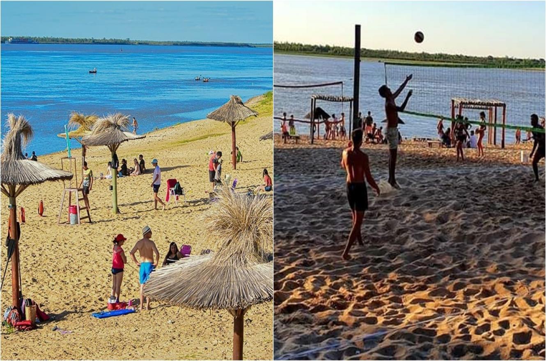 Por la bajante del río, La Paz y Santa Elena prohíben bañarse en sus balnearios