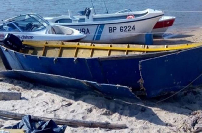 La barcaza tenía una doble pared en la que se escondían los panes de marihuana.