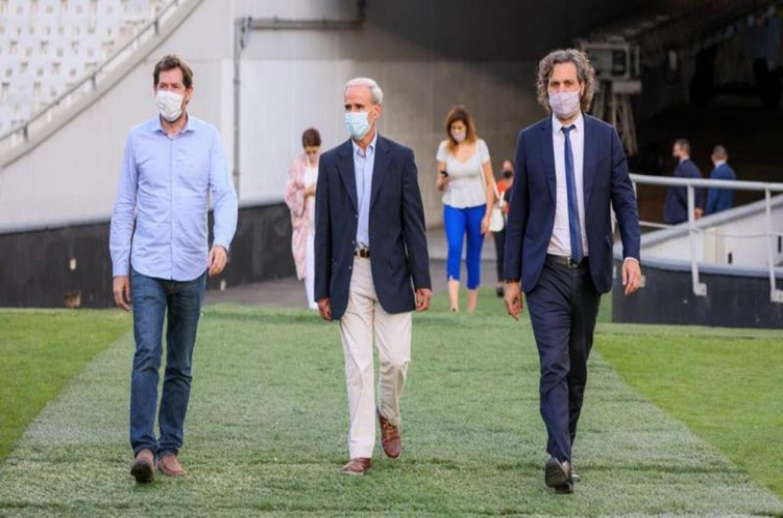 Juan Pablo Biondi, Julio Vitobello y Santiago Cafiero