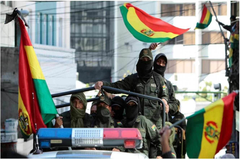 Policías bolivianos