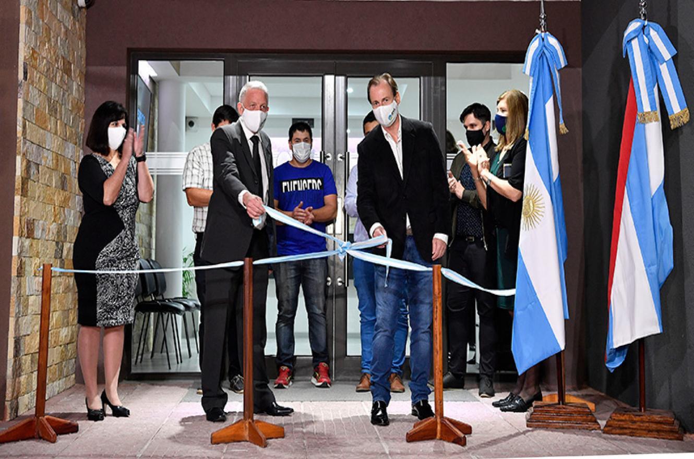 Bordet con Casali inaugura obras Villa Libertador
