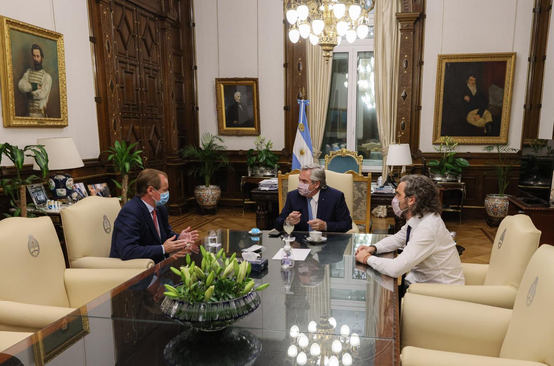 Bordet con Fernández y Cafiero en Casa Rosada