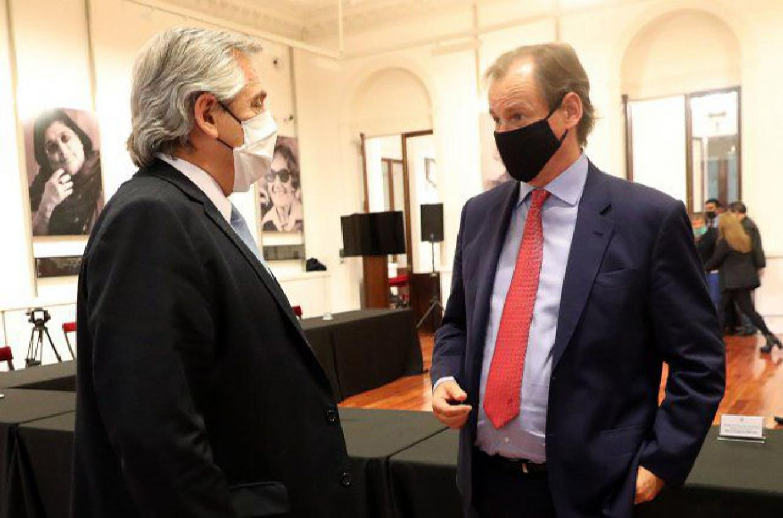 Alberto Fernández con Gustavo Bordet