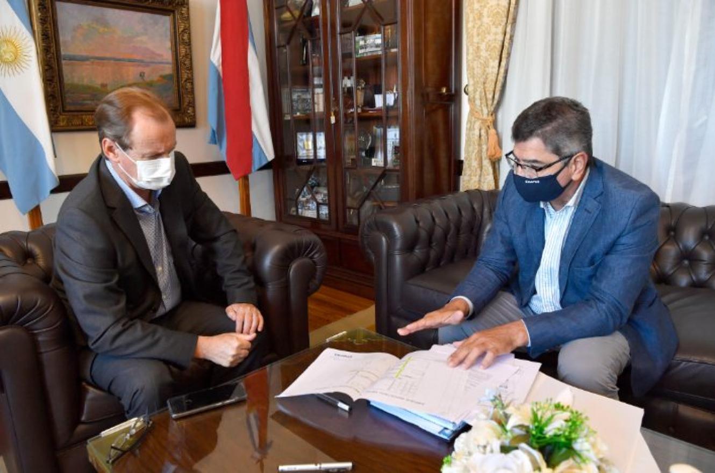 Bordet analizó con el titular de Enersa el plan de obras energéticas de la provincia