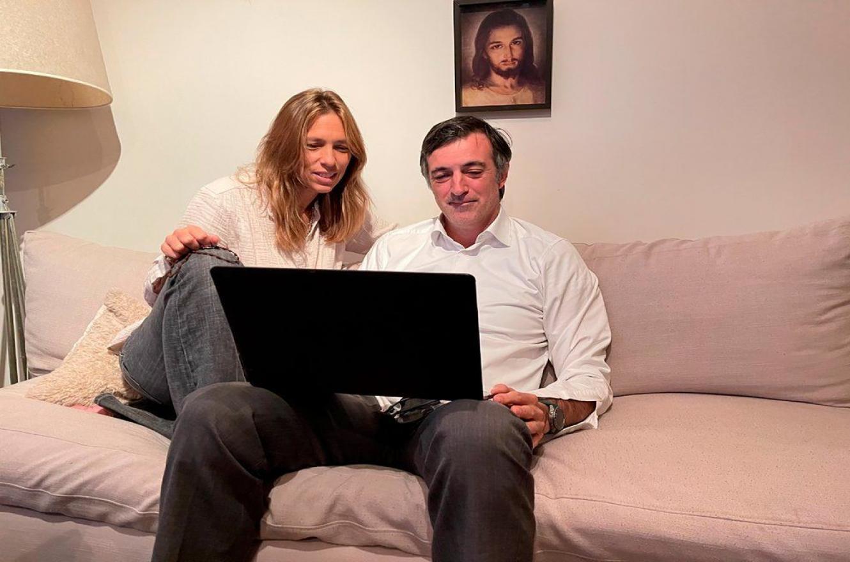 Esteban Bullrich junto a su esposa