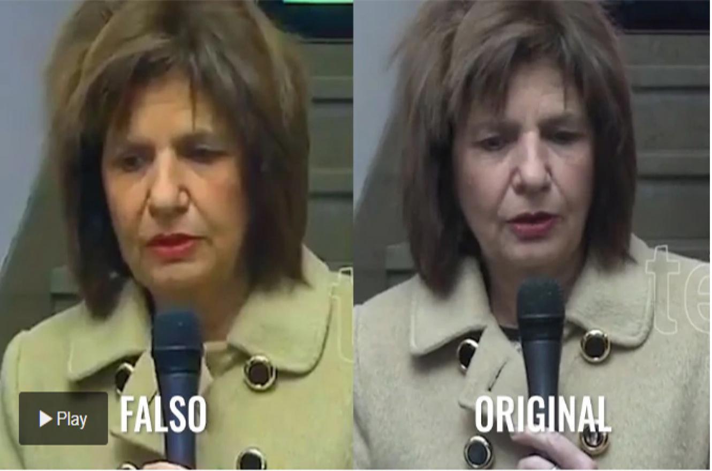 Patricia Bullrich fake news