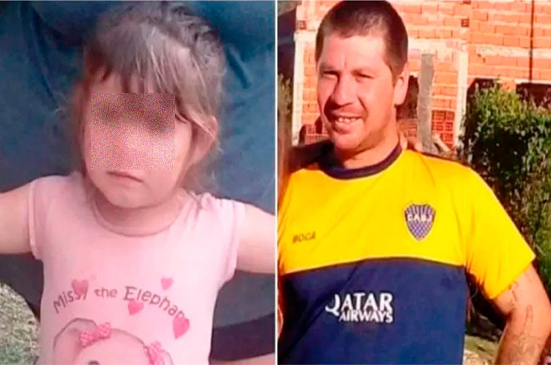Fernando Ariel Lescano y su hija
